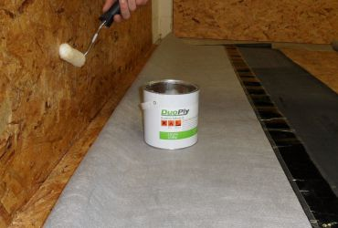 Apply Contact Adhesive to Roof Perimeter
