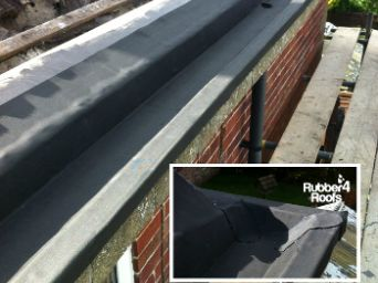 Epdm Gutter Liners For Use On Any Material And Gutter Type