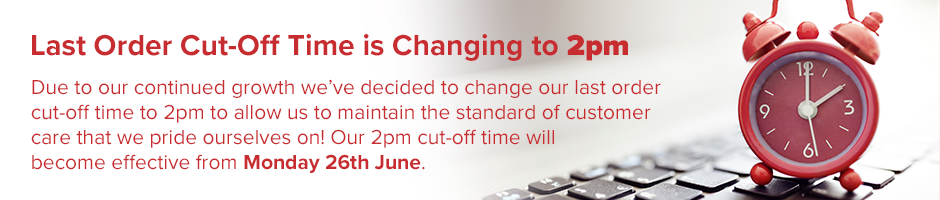 Cut-off Time Changing to 2pm