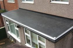 leaking felt roof one piece epdm extension - Rubberised Roof Membrane