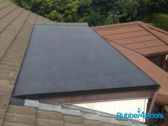 Shallow Pitched Roof With Replacement EPDM Membrane
