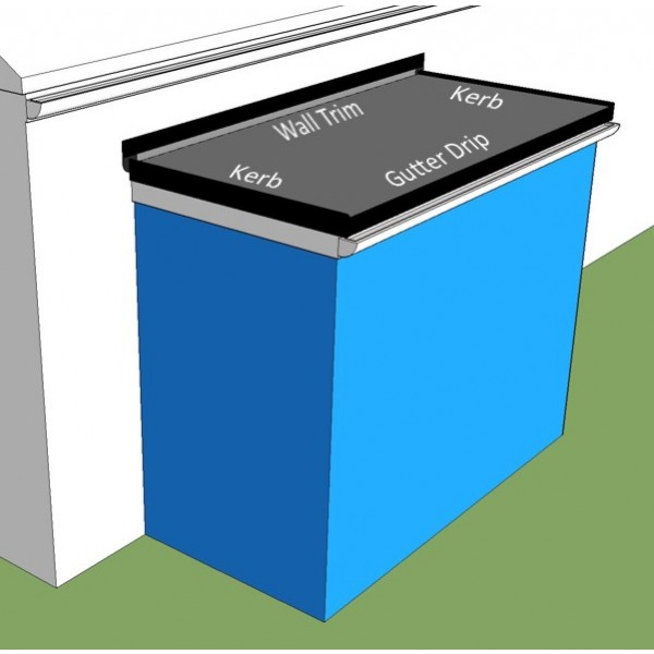 Epdm porch roof kits rubber4roofs for Front porch roof kits