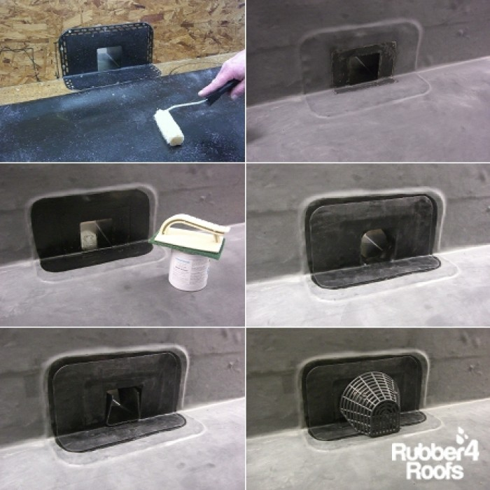 Horizontal Drain Water Outlet 100mm Rubber4roofs