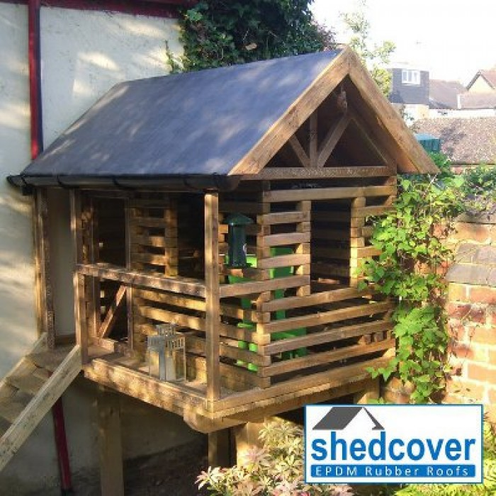 Shedcover rubber membrane for shed rubber roofs for How to build a treehouse roof