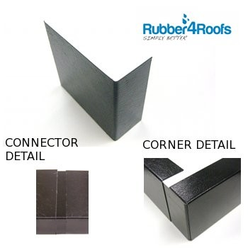 Rubber Roof Metal Trim Corner