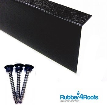 Rubber Shed Roof Edge Trim from Rubber4Roofs