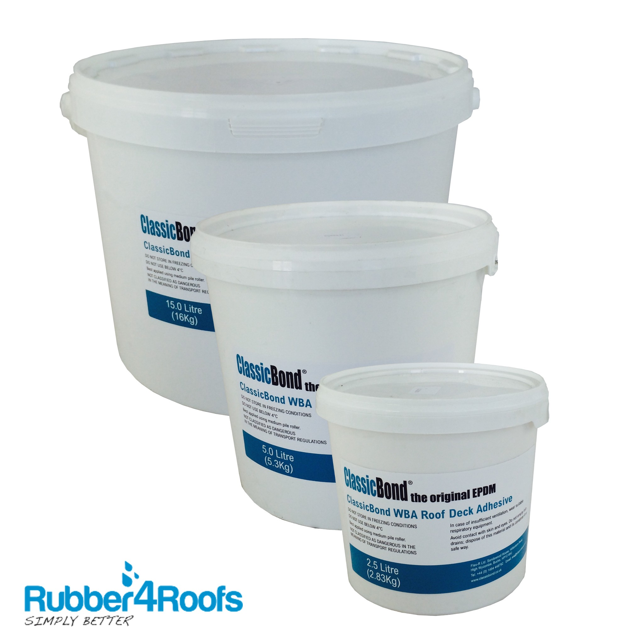 Epdm Water Based Deck Adhesive Rubber4roofs