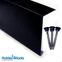 Flat Roof Metal Edge Trim for Rubber Roofing from Rubber4Roofs